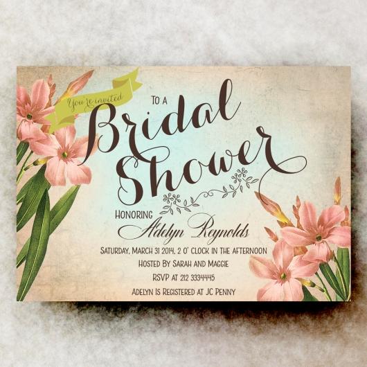 vintage bridal shower invitation retro bridal shower rustic bridal shower printable bridal shower 21usd 21usd vintage bridal shower invitation - Vintage Wedding Shower Invitations